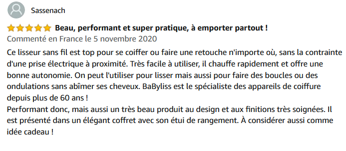 Babyliss 9000 - avis-clients