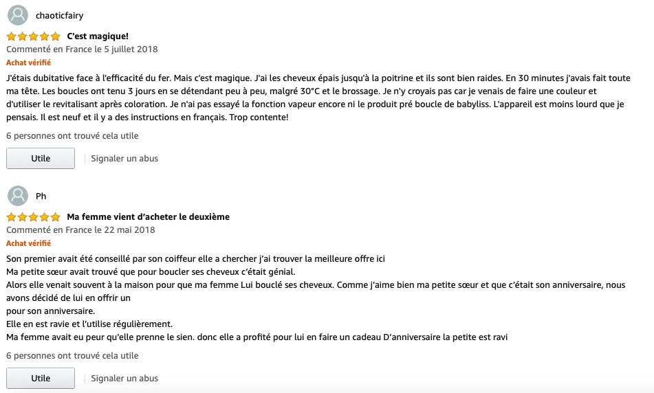 MiraCurl Steamtech Babyliss Pro avis